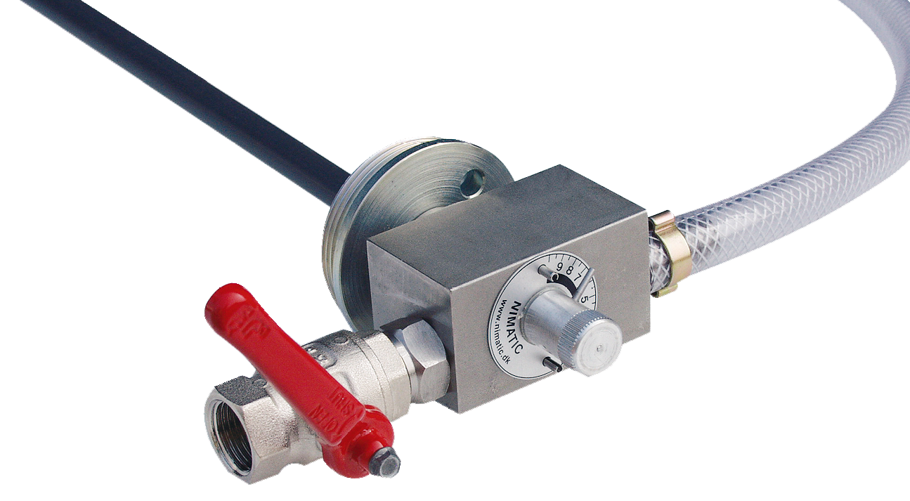 The Nimatic Emulsion Mixer ensures a correct and uniform blending of metal cutting fluids or other liquids, which have to be mixed with water
